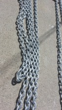 2008 of shiny regalvanised chain