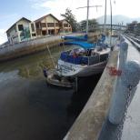 Careening, repair, boat, Tioman,